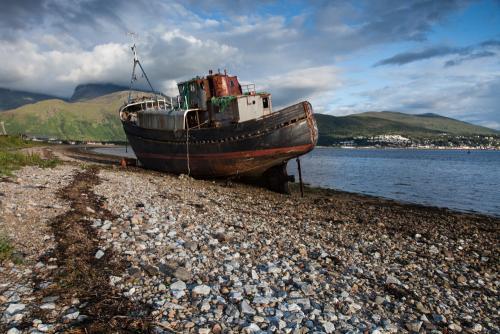 """The old fisherman"" looking towards Ben Nevis - Scotland."
