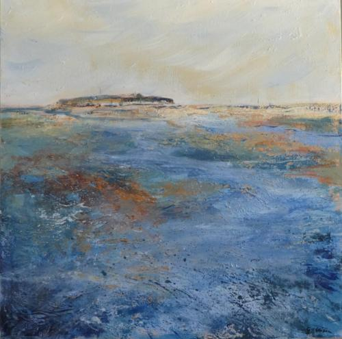 Gill Ellison - Across the estuary to Hilbre Island (Wirral)