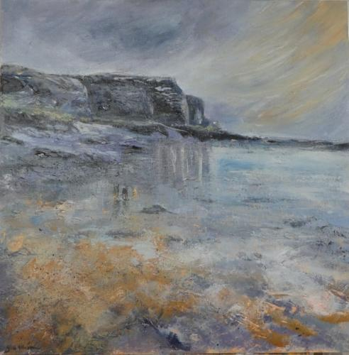 Gill Ellison - Approaching Middle Eye from Hilbre Island