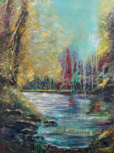 Henry Campilla Sinnott - River Wharfe near Bolton Abbey