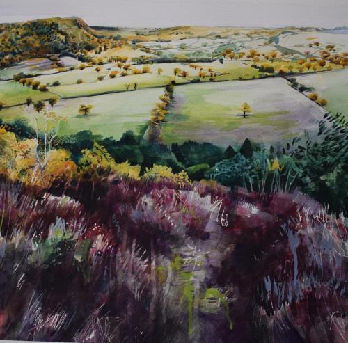 Sophie Parr - Bickerton Hill from Raw Head, Autumn